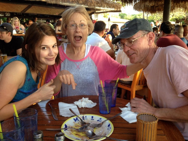 Me with my parents, in Maui