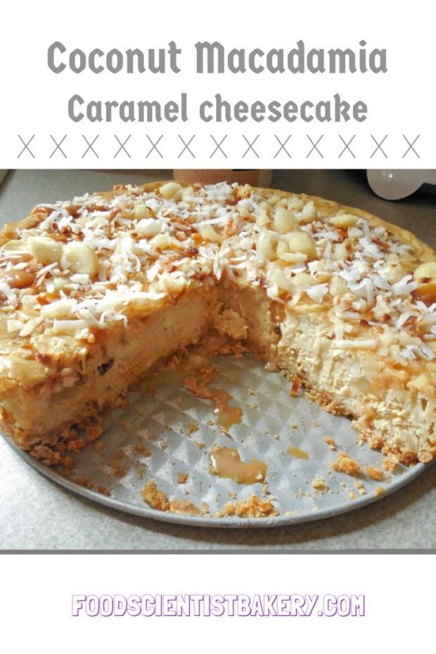 Coconut Macadamia Caramel Cheesecake