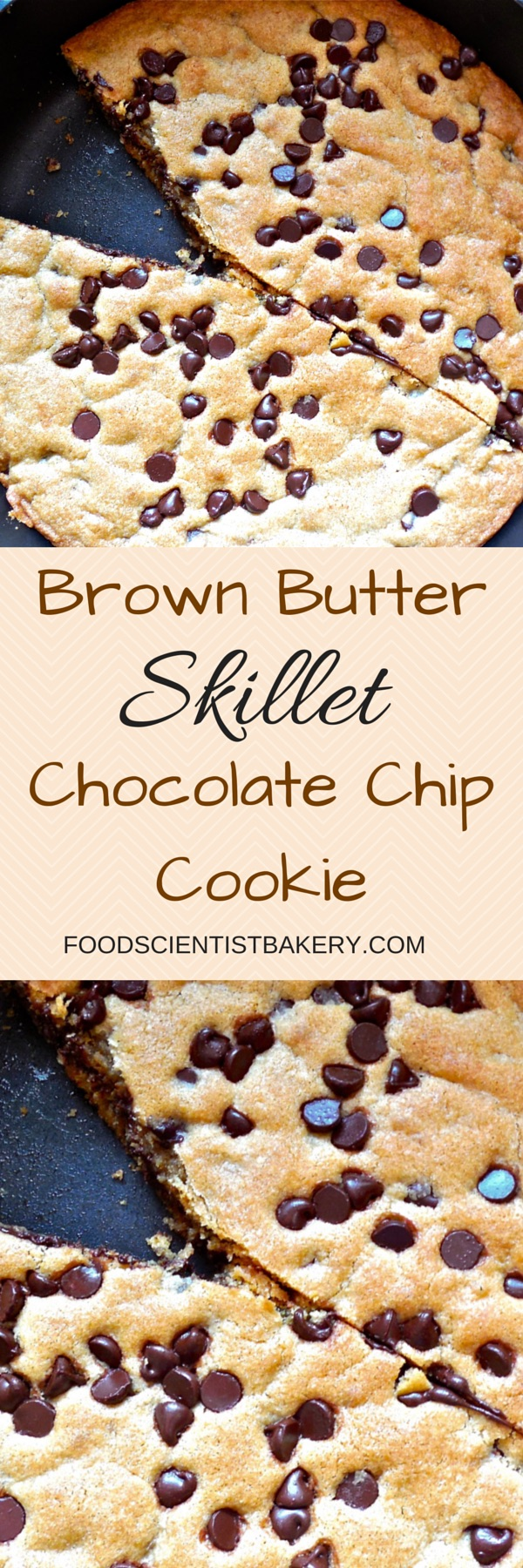 Brown Butter Skillet Chocolate Chip Cookie