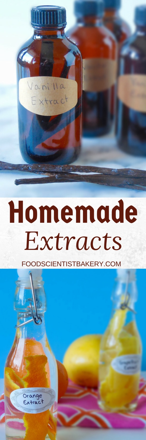 Only 2 ingredients to make your own extracts! Easy and economical!