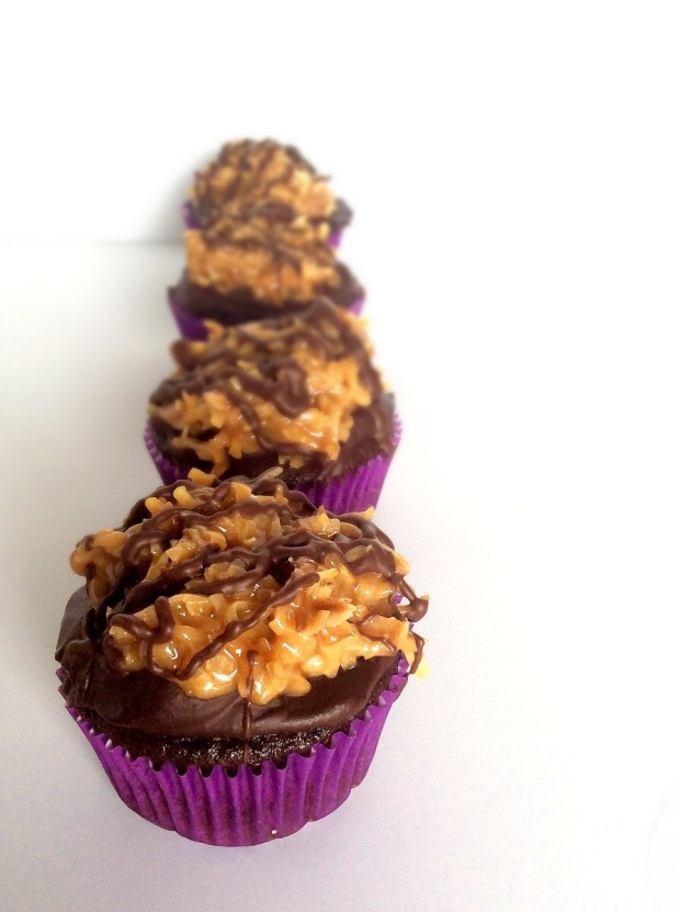 Samoas Cupcakes- If you like the cookies, you'll LOVE these cupcakes!