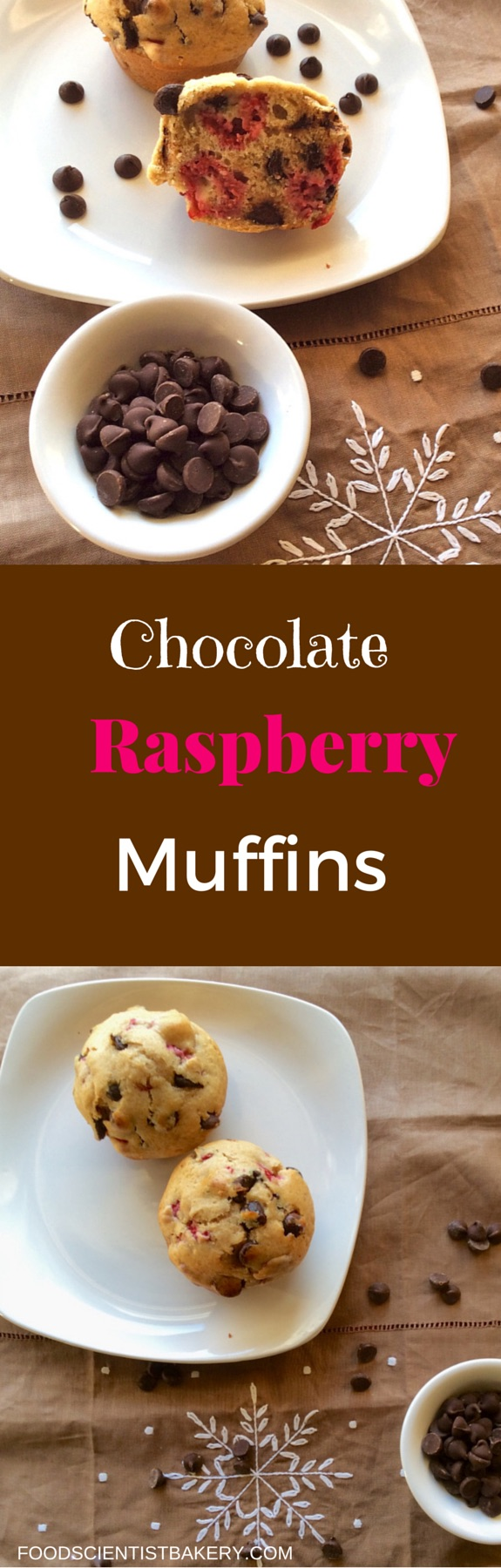 Chocolate Raspberry Muffins-raspberries and chocolate chips in a bakery style muffin!