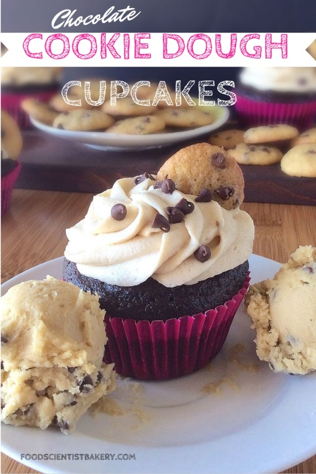 Chocolate Cookie Dough Cupcakes