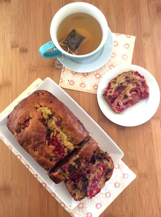Chocolate Raspberry Banana Bread