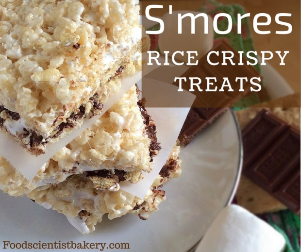 S'mores Rice Crispy Treats- a few easy additions make these the best rice crispy treats ever!