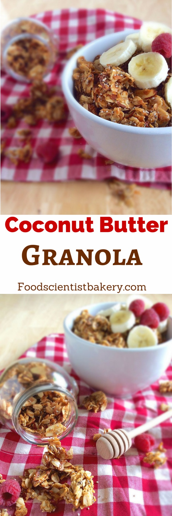 Coconut Butter Granola- the perfect snack, breakfast, or dessert! Healthy and very simple to make!