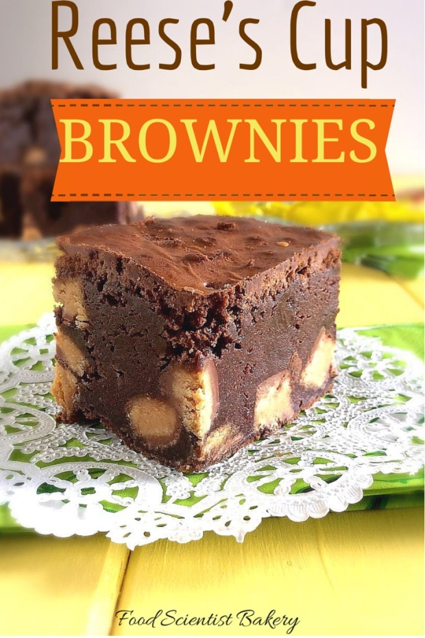Reese's Cup Brownies- fudgy, thick brownies satisfy every chocolate craving!