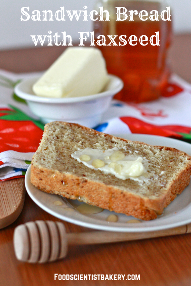 Sandwich Bread with Flaxseed- perfect bread for sandwiches or breakfast!