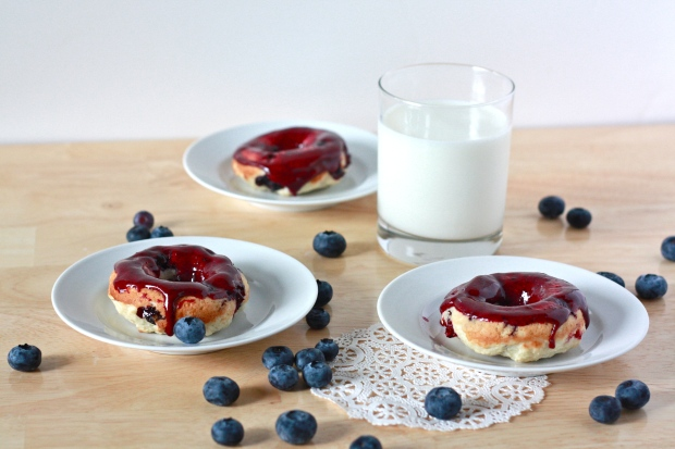 Blueberry Buttermilk Donuts