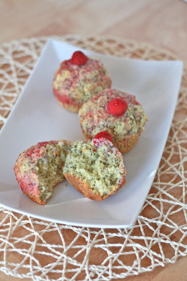 Blood Orange Muffins with Poppy Seeds