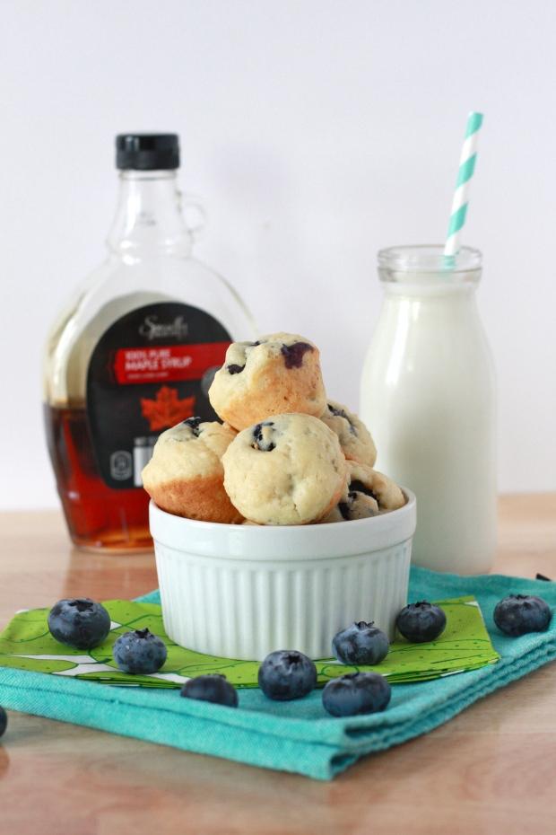 Mini Blueberry Pancake Muffins